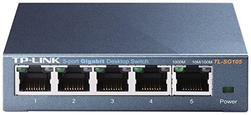 TP-Link スイッチングハブ 10/100/1000Mbps Gigabit 5ポート 金属筺体 ライフタイム保証 TL-SG105