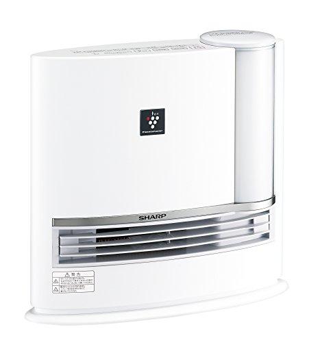 シャープ 加湿セラミックファンヒーター プラズマクラスター搭載 ホワイト HX-E120-W