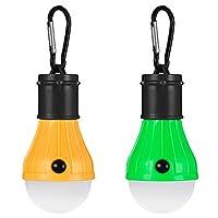 ilifesmart 2個アウトドアLEDライトランプランタン電球、3照明モード付き
