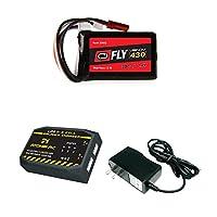 ヴェノムFly 30C 2s 430mAh 7.4V LiPoバッテリーwith JST and E - flite Ph Plug and Atomik 2to 3セルAC / DC LiPoバランス充電器お金Savingコンボ