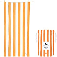 Quick Drying Travel Towels for Beach - Ipanema Orange, Extra Large (200x90cm, 78x35) - Lightweight Towel for C
