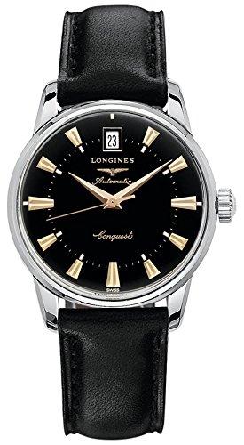 [ロンジン] 腕時計 コンクエスト ヘリテージ 自動巻き L1.611.4.52.4 メンズ 正規輸入品 ブラック