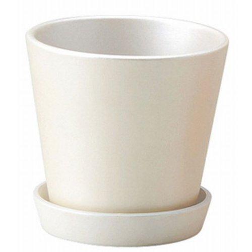 GREENHOUSE シンプルベース 皿付き 3042-WH ホワイト