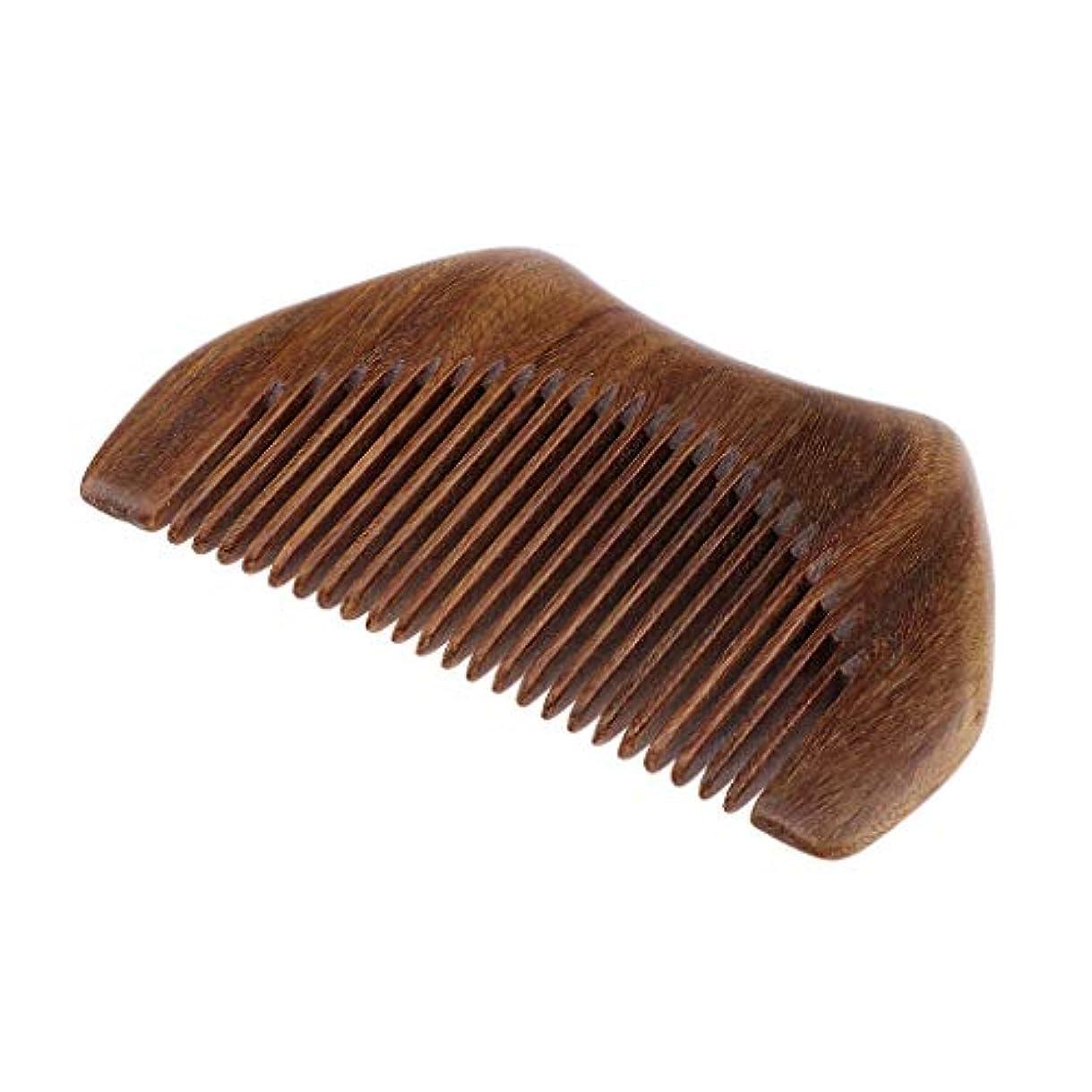 ガチョウしなやかメドレーヘアコーム 木製櫛 静電気防止櫛 ヘアサロン くし