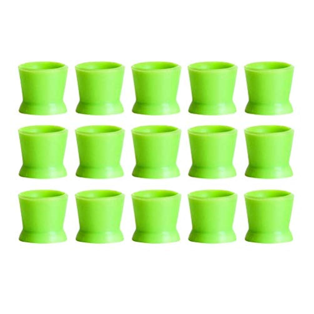 時期尚早地上で里親Healifty 300PCSシリコンタトゥーインクカップ使い捨てマイクロブレーディングピグメントキャップホルダーコンテナ永久的なまつげメイクアップアイブロー(グリーン)