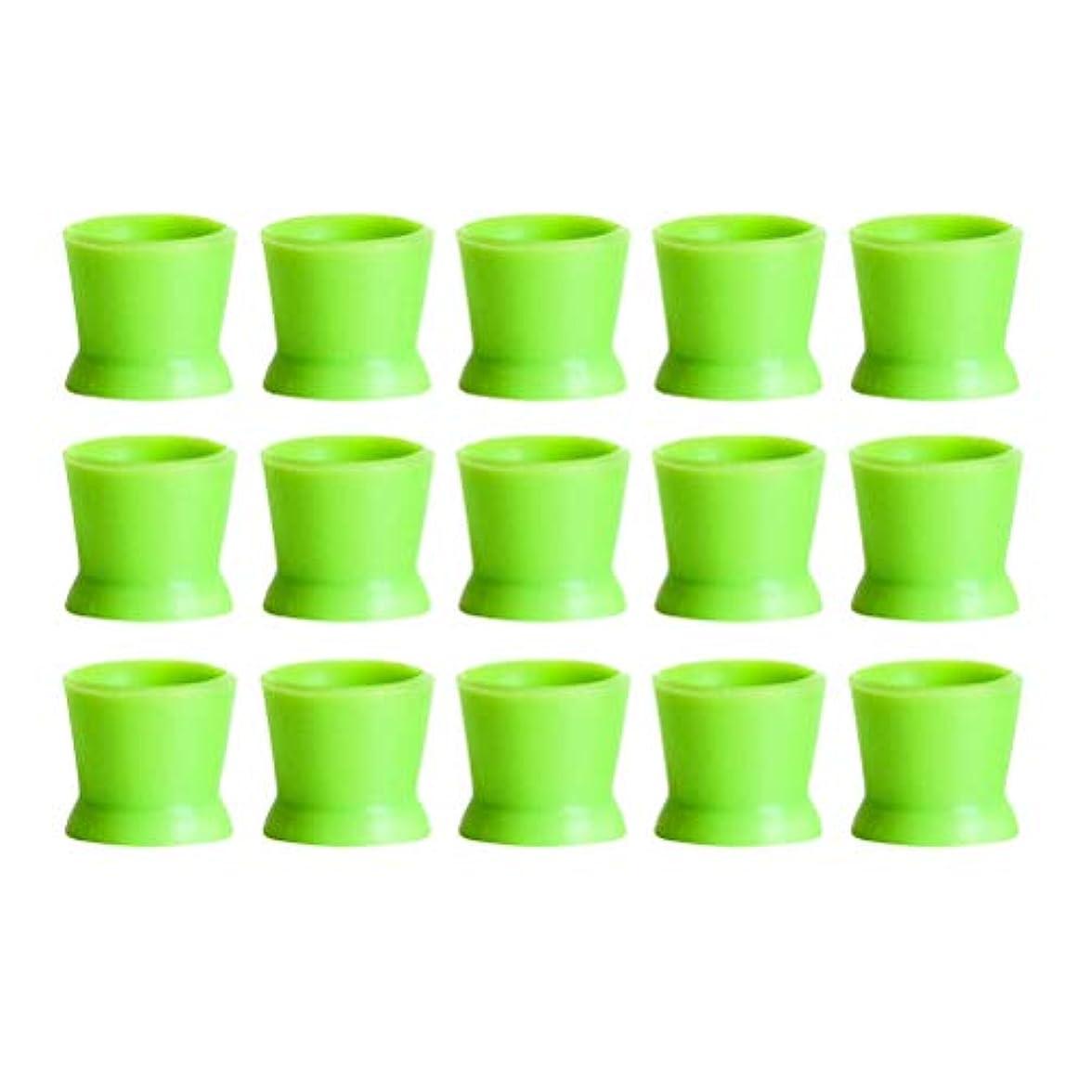 小人オールどこでもHealifty 300PCSシリコンタトゥーインクカップ使い捨てマイクロブレーディングピグメントキャップホルダーコンテナ永久的なまつげメイクアップアイブロー(グリーン)