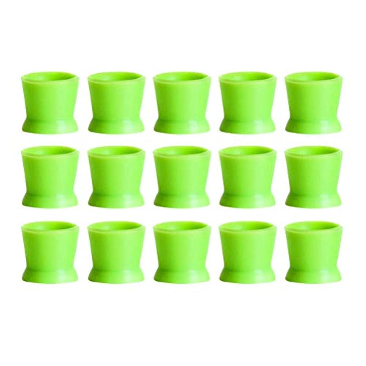 成人期ネットリクルートHealifty 300PCSシリコンタトゥーインクカップ使い捨てマイクロブレーディングピグメントキャップホルダーコンテナ永久的なまつげメイクアップアイブロー(グリーン)