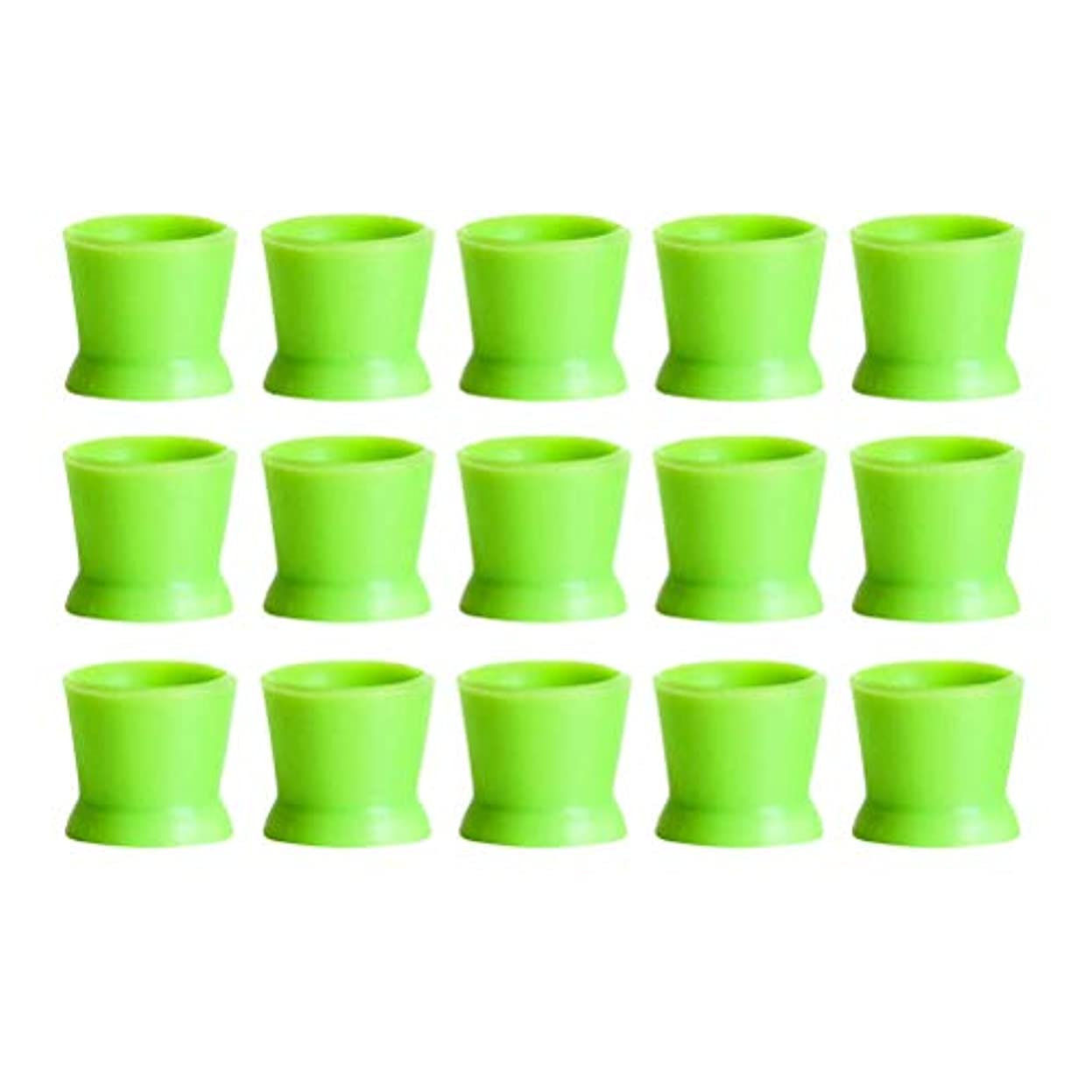ドライモデレータ空白Healifty 300PCSシリコンタトゥーインクカップ使い捨てマイクロブレーディングピグメントキャップホルダーコンテナ永久的なまつげメイクアップアイブロー(グリーン)