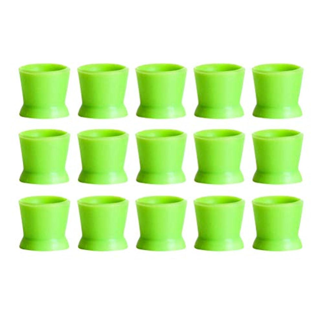 ゆりトロリーバスマリンHealifty 300PCSシリコンタトゥーインクカップ使い捨てマイクロブレーディングピグメントキャップホルダーコンテナ永久的なまつげメイクアップアイブロー(グリーン)