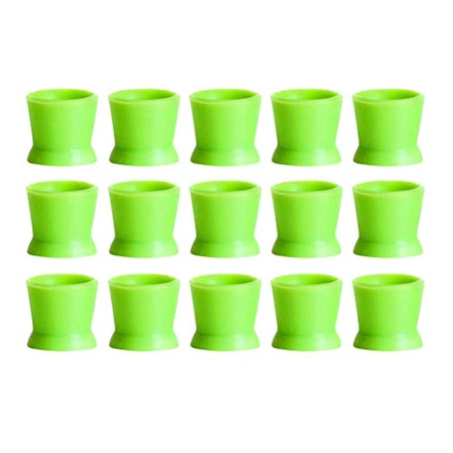 オーストラリア浴愛国的なHealifty 300PCSシリコンタトゥーインクカップ使い捨てマイクロブレーディングピグメントキャップホルダーコンテナ永久的なまつげメイクアップアイブロー(グリーン)