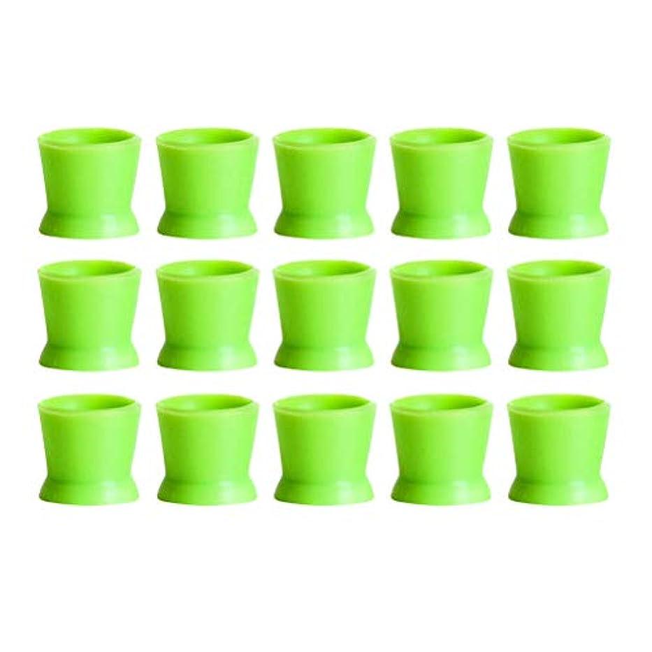 鏡アイスクリームマットHealifty 300PCSシリコンタトゥーインクカップ使い捨てマイクロブレーディングピグメントキャップホルダーコンテナ永久的なまつげメイクアップアイブロー(グリーン)