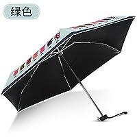 ブルーストーンウルトラライト太陽傘レディースMini Sun傘Small Freshサンシェード折りたたみ5 Fold傘dual-use Sunscreen Umbrellas ブラック