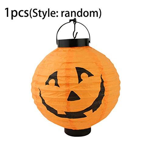 Sunnyday Pumpkinペーパーランタンハロウィン装飾ランプゴーストスパイダーバットスケルトンライトペーパーハンカチ休日パーティー装飾