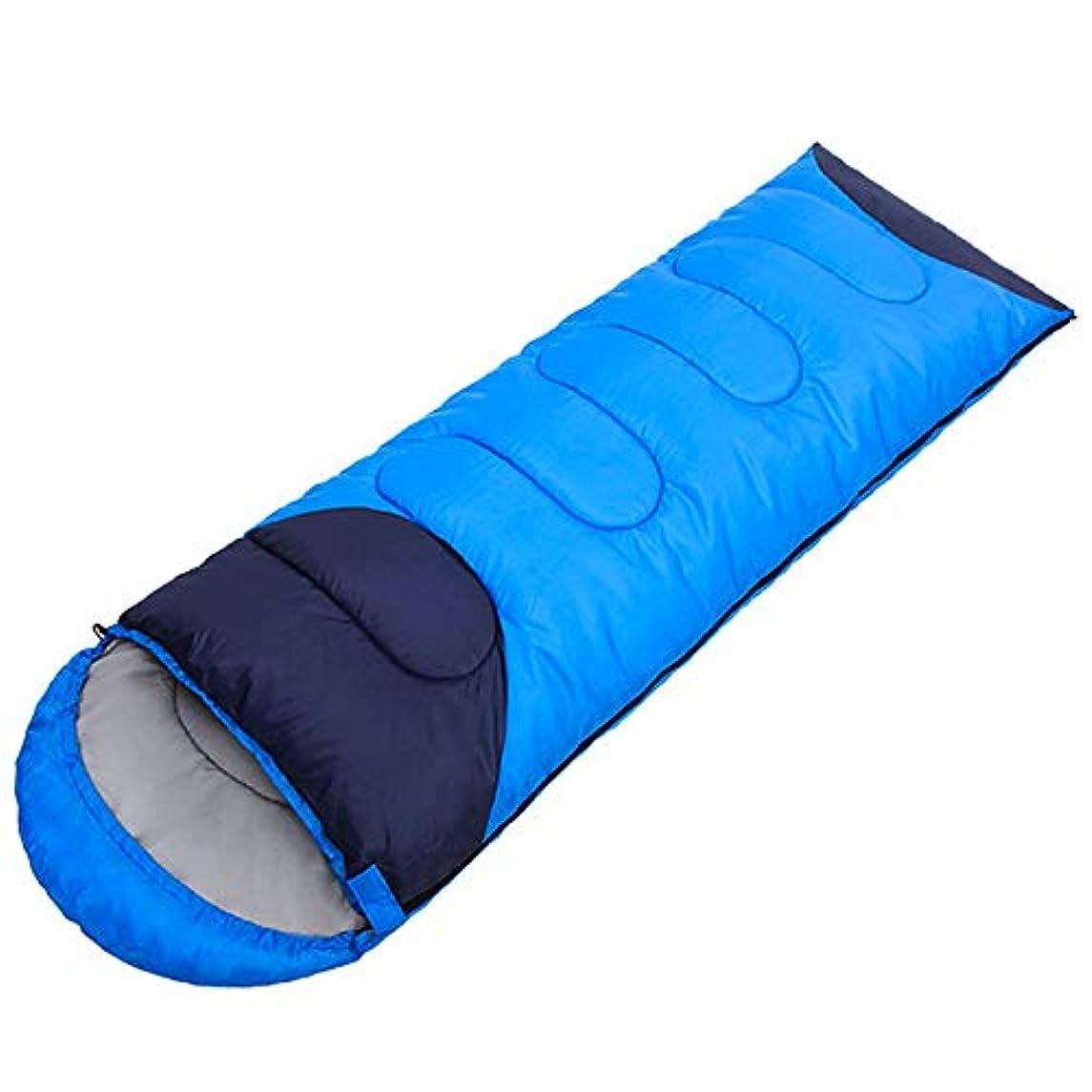 対立不確実晩ごはんDjyyh 大人の寝袋屋外春と夏のキャンプポータブル寝袋2色 (Color : Light blue)