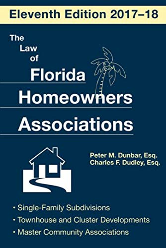 amazon the law of florida homeowners association english edition