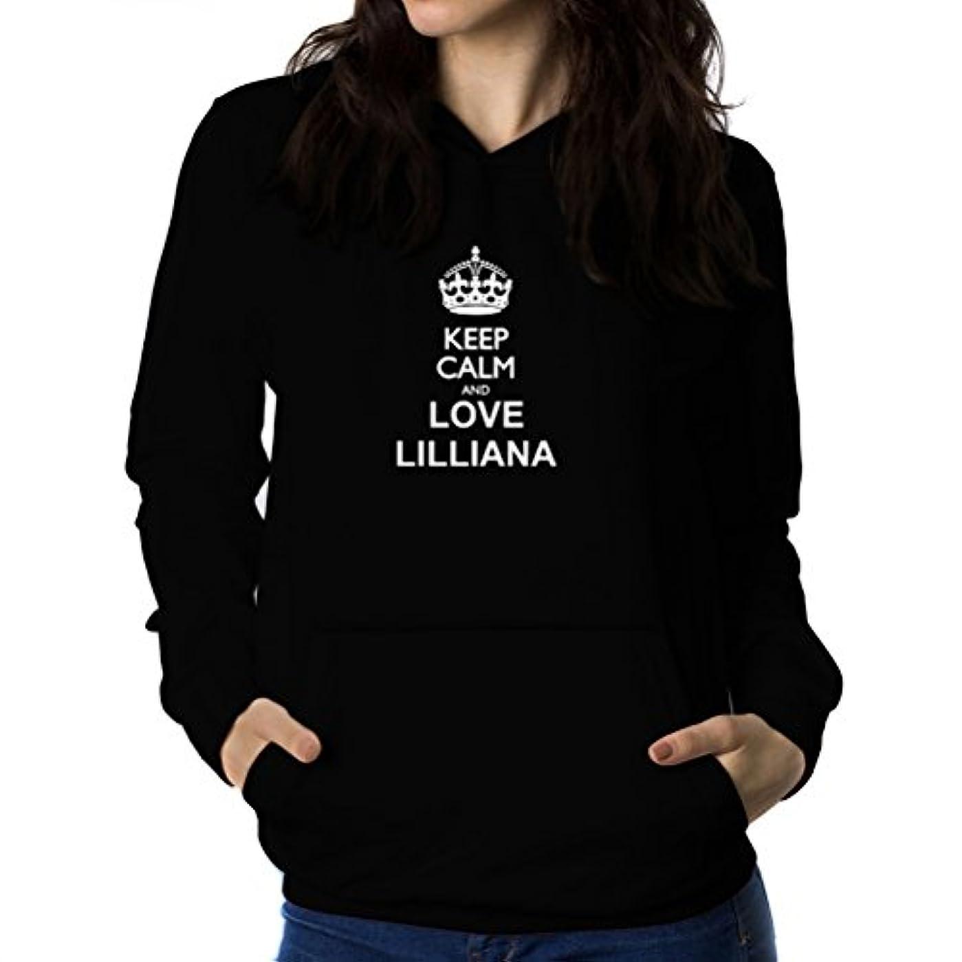 機械的ダイヤモンドチロKeep calm and love Lilliana 女性 フーディー