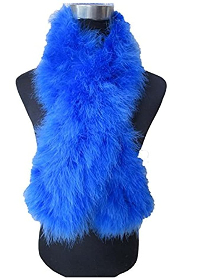 崇拝します豊かにする神聖レディース フェザー羽毛 ファー スカーフ ストール マフラー 柔らかい カジュアル パーティー