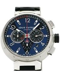 (ルイヴィトン)LOUIS VUITTON 腕時計 タンブール クロノグラフ オートマチック SS/革 Q102V0 中古