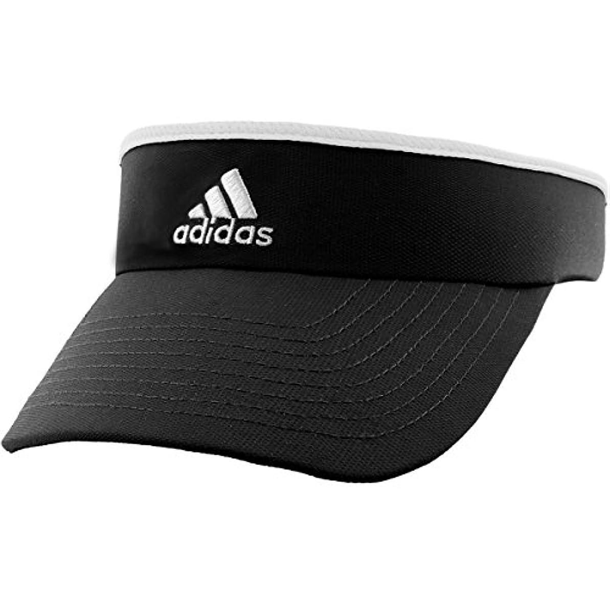 狂った絶対にロンドン(One Size, Black/White) - adidas Women's Match Visor