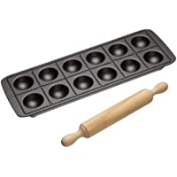 Non-stick Ravioli Mould Tray With Rolling Pin