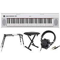 YAMAHA NP-12WH 61鍵盤 電子キーボード Dicon Audio 4本脚型 スタンド ベンチ ヘッドホン 4点セット
