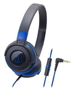 audio-technica STREET MONITORING 密閉型オンイヤーヘッドホン スマートフォン用 ポータブル ブラックブルー ATH-S100iS BBL