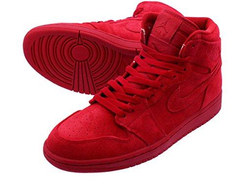 [ナイキ] NIKE AIR JORDAN 1 RETRO HIGH GYM RED/GYM RED 【RED SUEDE】【メンズモデル】【国内未発売】 [並行輸入品]