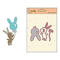 マスタリーメタルカッティングダイDIYスクラップブッキングのためのステンシルフォトアルバムカード漫画ウサギ