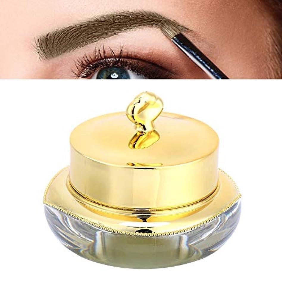 落ちた効率的にシミュレートする眉毛インク 天然植物 顔料 顔料の半永久的な唇の眉毛の 長続きがするインククリームの眉毛の唇のアイラインの永久的な構造(コーヒー)