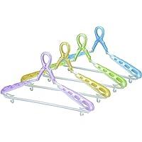 小久保工業所 洗濯ハンガー 4色組(ピンク?グリーン?ブルー?イエロー) 約41×5×21.5cm パット付スライドキャッチハンガー 6990 4個入