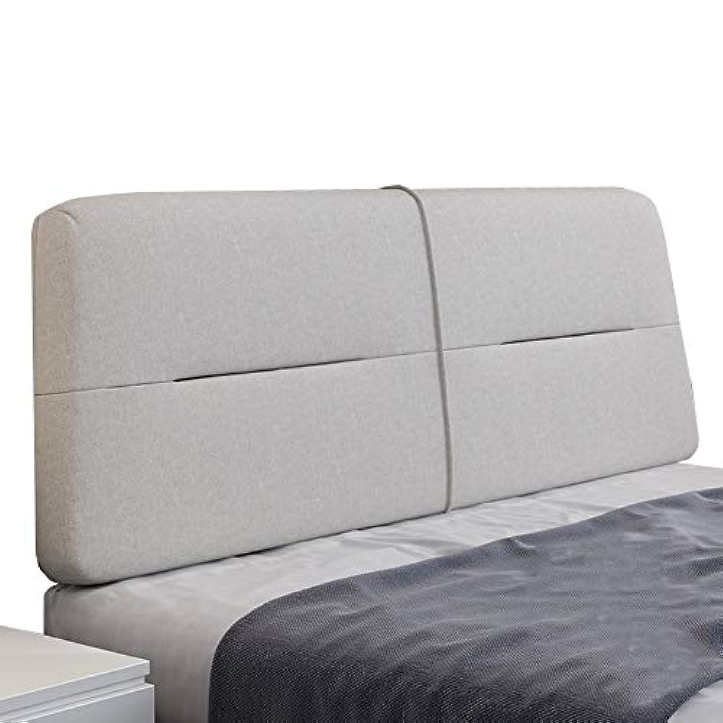 結論言い訳準備ができてLIANGLIANG クションベッドの背もたれ ダブルピープルエクストララージ台形ベッド背もたれクッション簡潔なデザイン綿布4色、18サイズ (色 : Gray, サイズ さいず : 210x60x10cm)