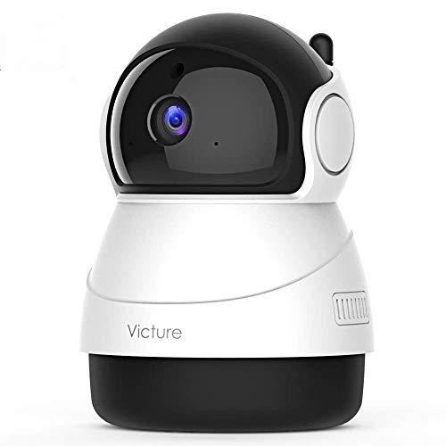 Victure 1080P FHD 200万画素 ネットワークカメラ WiFi IPカメラ ワイヤレス屋内カメラ 暗視撮影 動体検知 ...