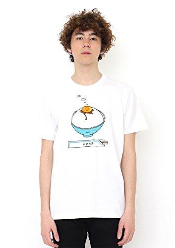 (グラニフ) graniph コラボレーションTシャツ/タマゴカケゴハンクン (ホワイト) L