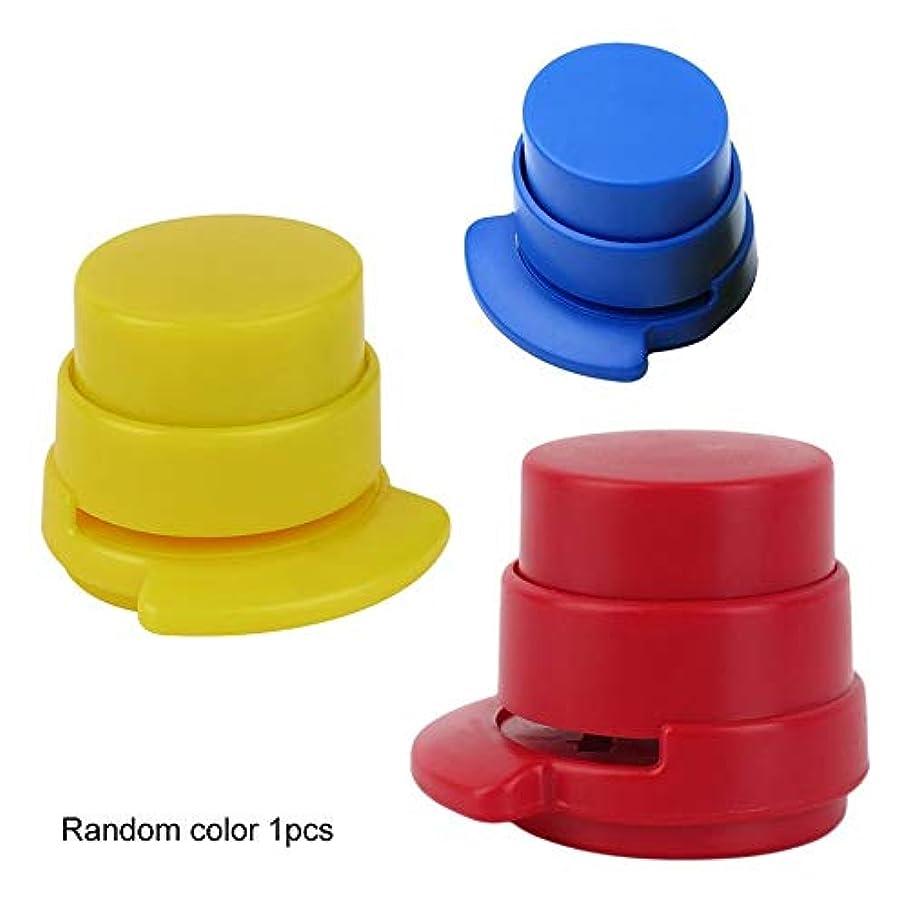 意図するメリー旋回優れた1ピースオフィスステープルフリーホッチキスホッチキスホームペーパーバインダーバインダークリップクリップスタイリッシュなホームオフィス文具(Color:color random)