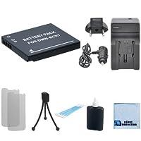 DMW - bck7バッテリーF / Panasonic Lumix DMC - dmc-fs14、fs16、fs18、dmc-fs2、fs22、fs28、fs35、fs37、fs40、fs45カメラ+車/ホーム充電器+ Complete Starterキット