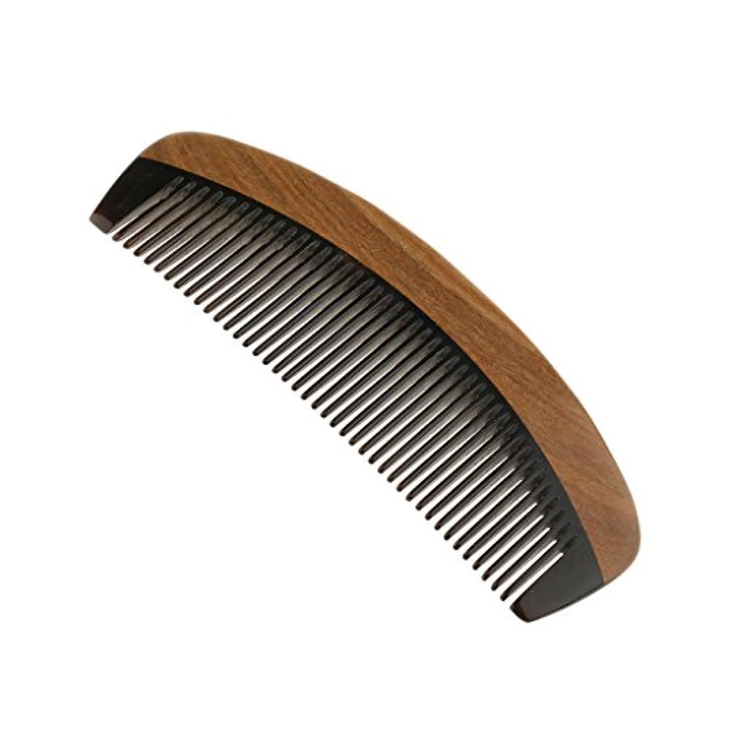 脱走ラジウム下にKesoto ウッドコーム サンダルウッド ハンドメイド 櫛 静電気 ヘッドマッサージ 髪 ブラシ