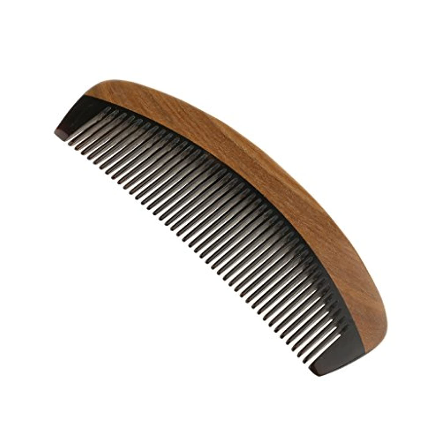 名誉あるパーティション歯車ウッドコーム サンダルウッド ハンドメイド 櫛 静電気 ヘッドマッサージ 髪 ブラシ