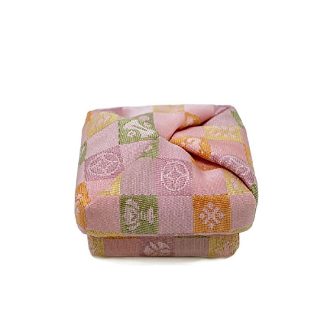 安全でないパノラマ後方布香合‐角‐ 紙箱入 格子宝 桃