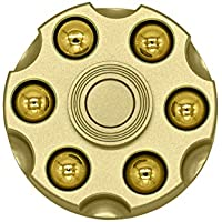 J-KONKY ハンドスピナー リボルバー型 弾丸取り外し可能 超静音 大人も子供も適合 指スピナー スピン ウィジェット Hand spinner