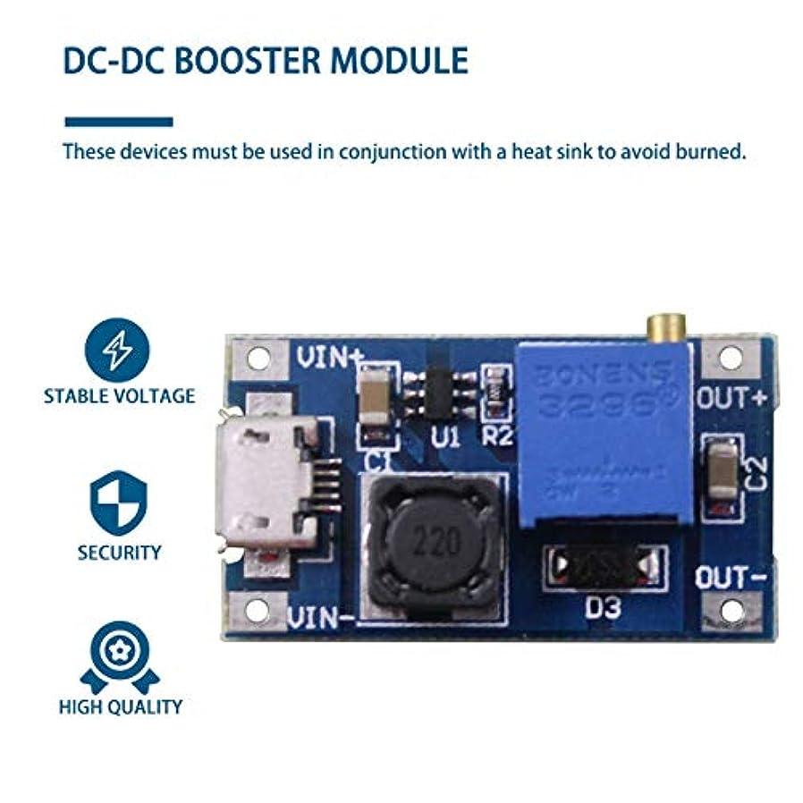 負驚くべき眠るユニバーサル2A最大DC-DCブーストステップアップ変換モジュール2V-24Vから5V-28V出力ステップアップパワーモジュールブースター