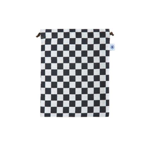 米織小紋・巾着袋(大) (市松)