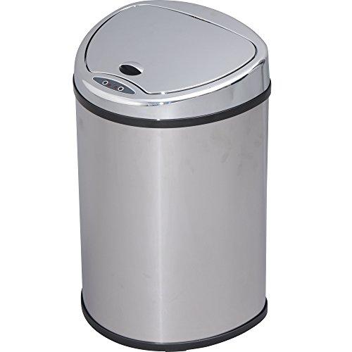 アイリスプラザ ゴミ箱 自動 開閉 センサー付 48L シルバー