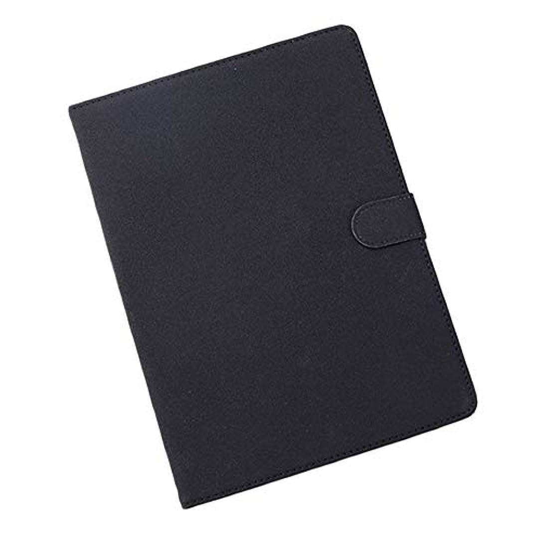 暗殺する決定グラスBTXXYJP 保護カバー 薄型 軽量 シンプル PU レザー 防塵 スマート IPadのAir2用 ケース 人間工学 (Color : Black)