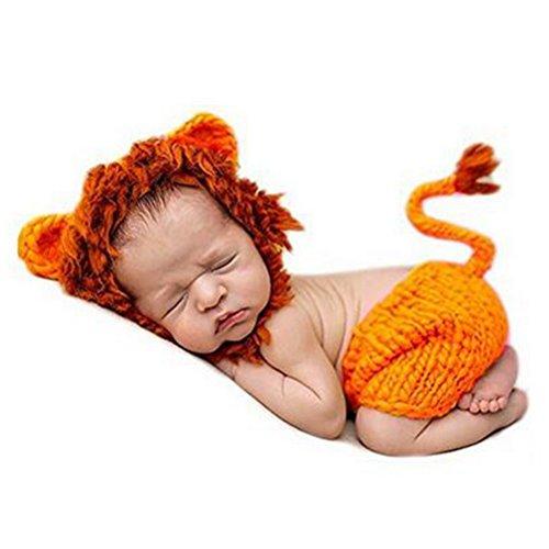 Babynice 新生児 記念撮影 ライオン 着ぐるみ 寝相アート コスチューム 0-4月