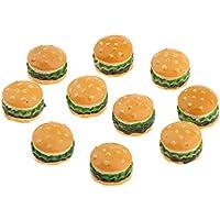 Dovewill 全3色選択 1/12スケール ドールハウス ミニチュア デザート ケーキ 食品 樹脂製 飾り - ハンバーガー