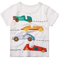 Csbks Boys Short Sleeve Crew Neck Tee Kids Graphic T-Shirt 1-6 Toddler