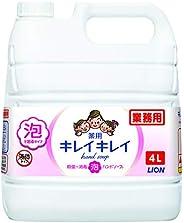 [業務用 大容量] KireiKirei 藥用 泡沫洗手液 柑橘水果香味 液體 單品 4升(醫藥部外用品)