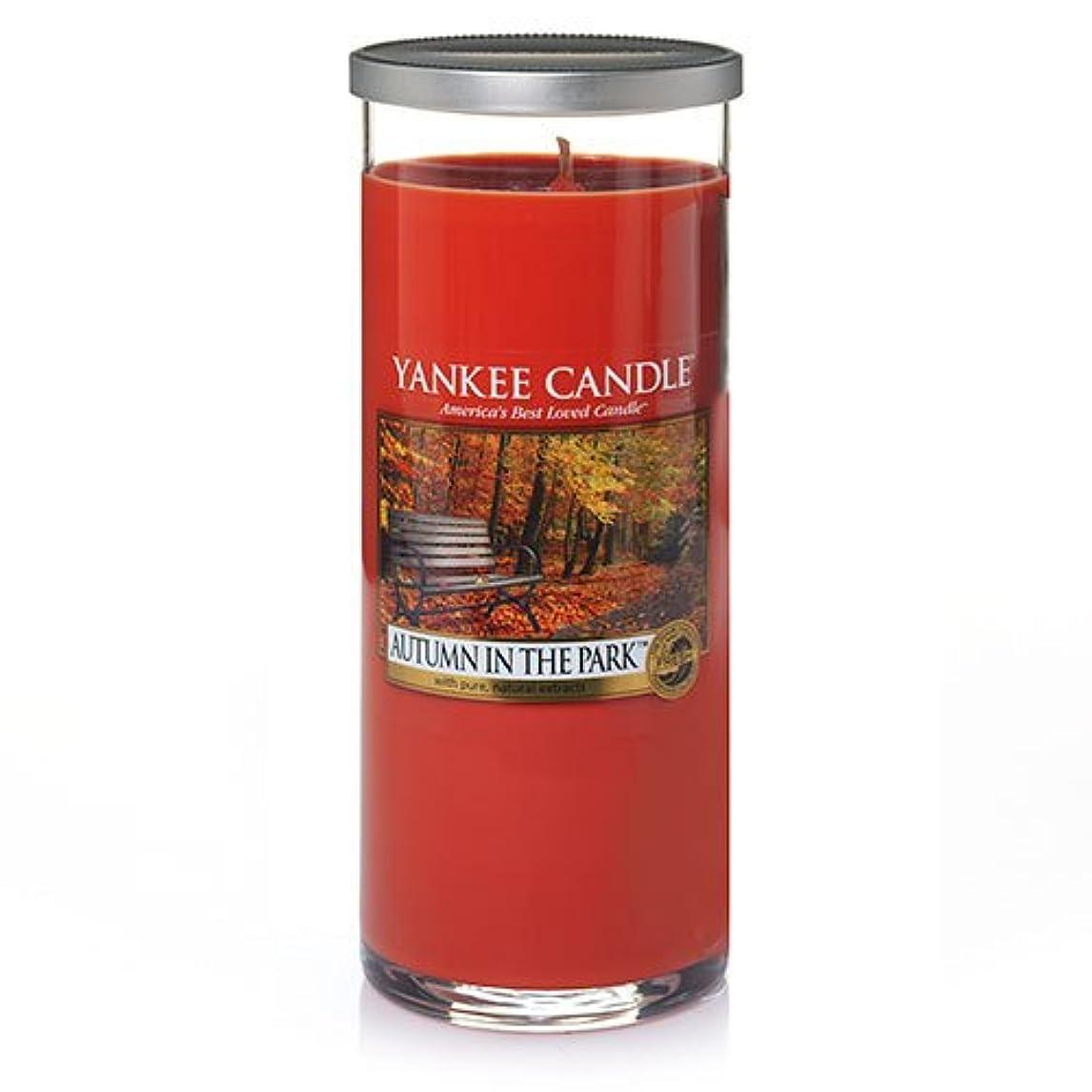 伝導率湖製油所Yankee Candle Autumn In The Park Large Perfect Pillar Candle、新鮮な香り