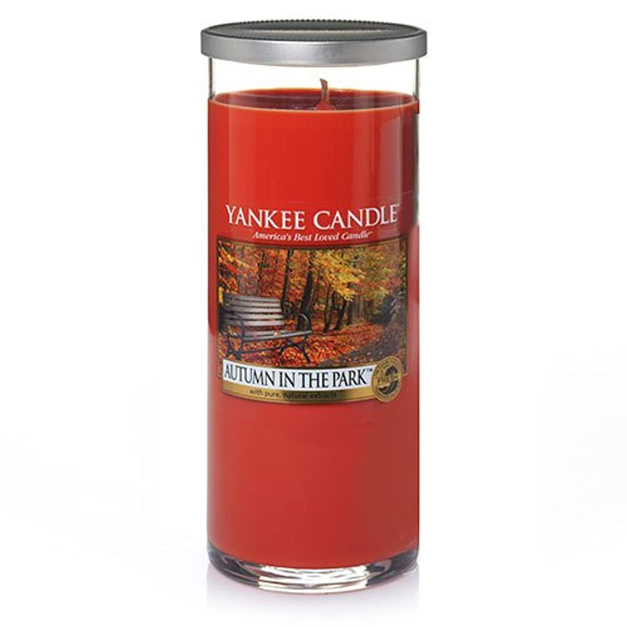 安らぎ守る腹痛Yankee Candle Autumn In The Park Large Perfect Pillar Candle、新鮮な香り