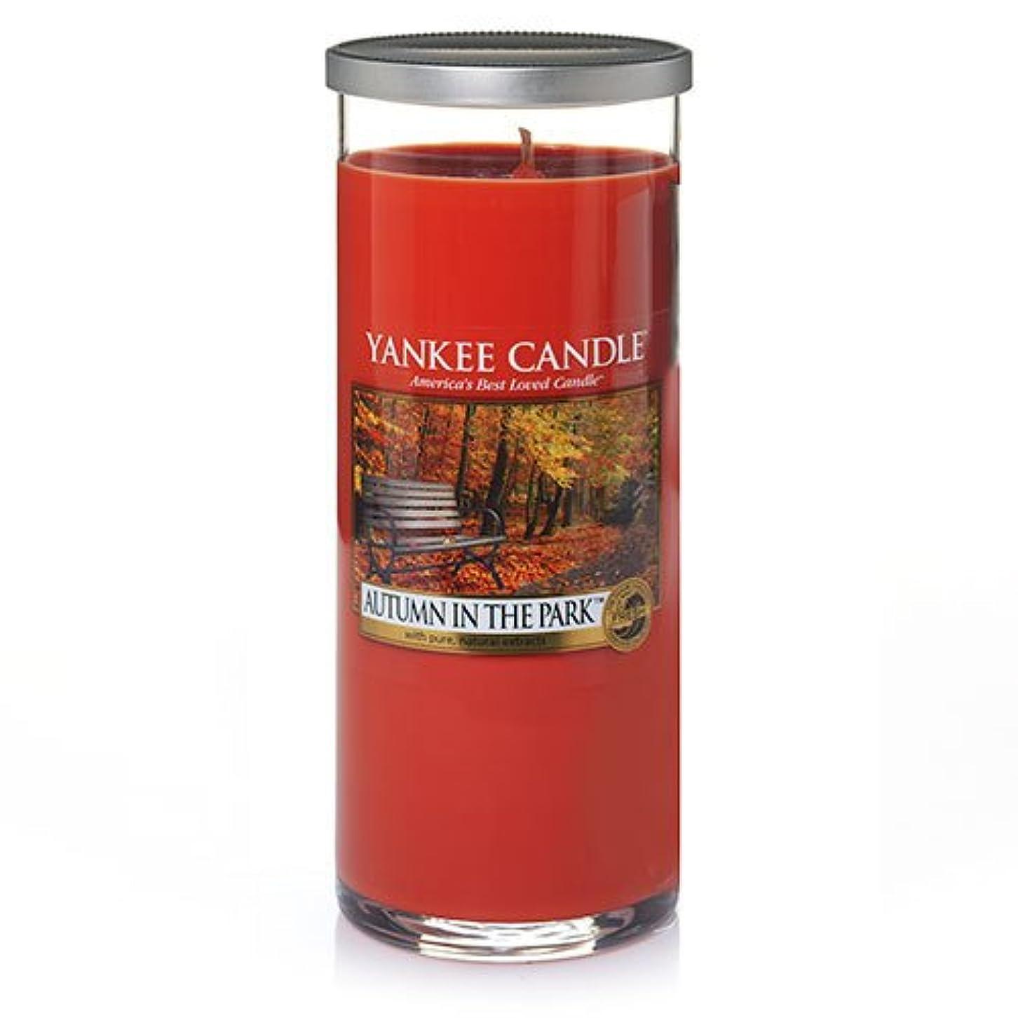 手つかずの疲労燃料Yankee Candle Autumn In The Park Large Perfect Pillar Candle、新鮮な香り